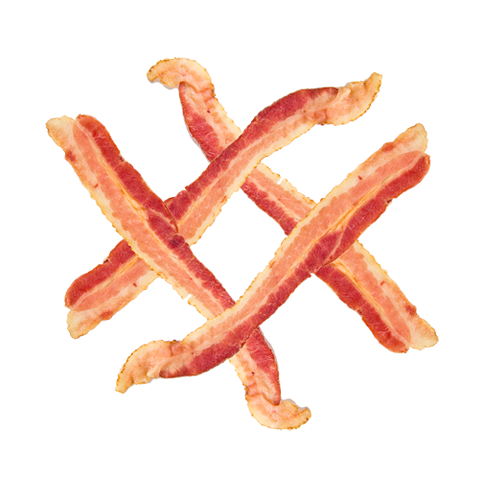 Plate Of Bacon Png Pic