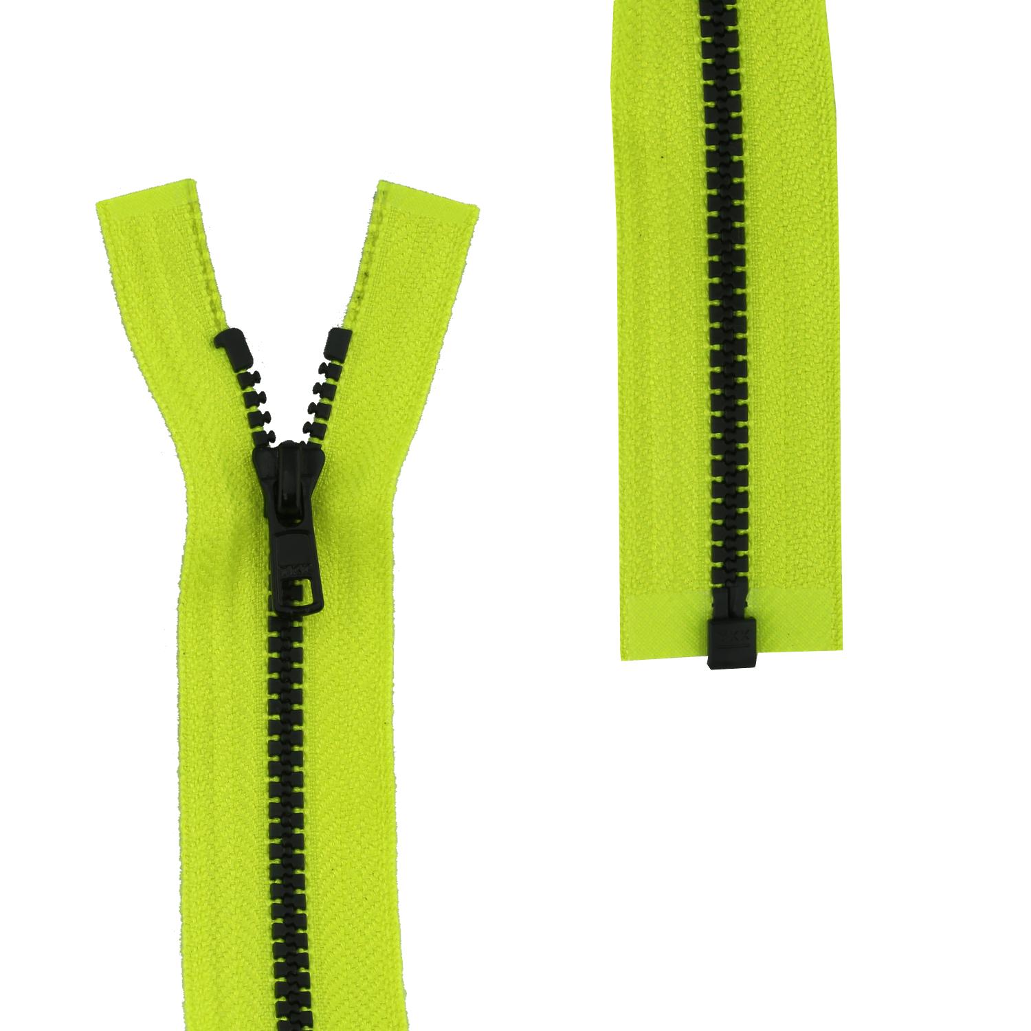 PNG image Green and black fabric zipper