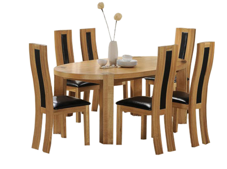 Png Zeus oval dining table