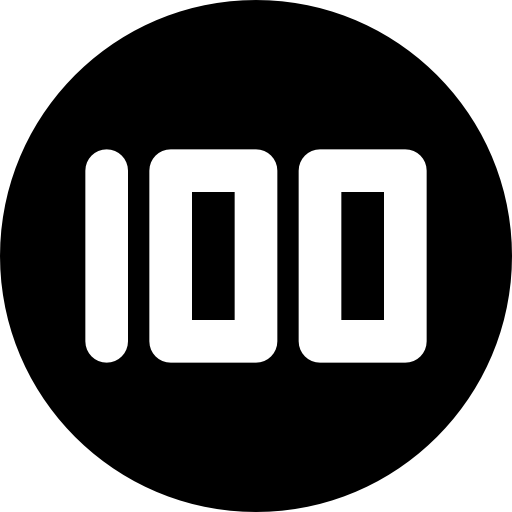 poker chip 100 icon