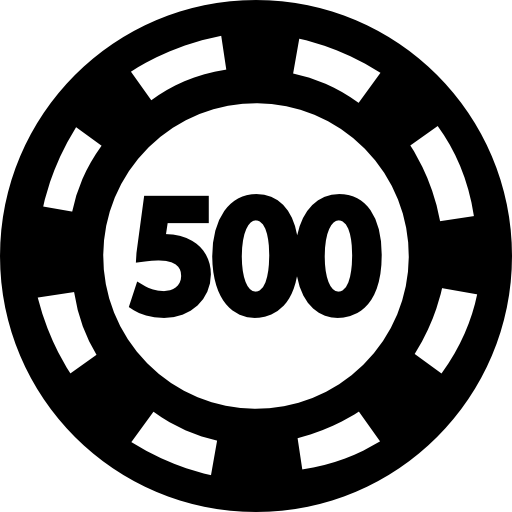 Poker Chip Worth 500 Icon image #43953