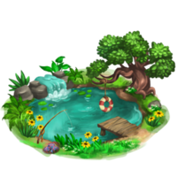 Background Png Transparent Pond Hd image #10911