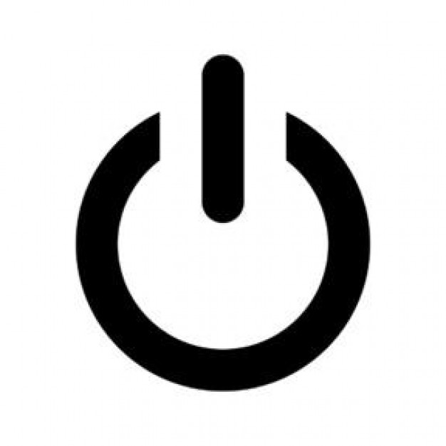 Size Icon Power Button