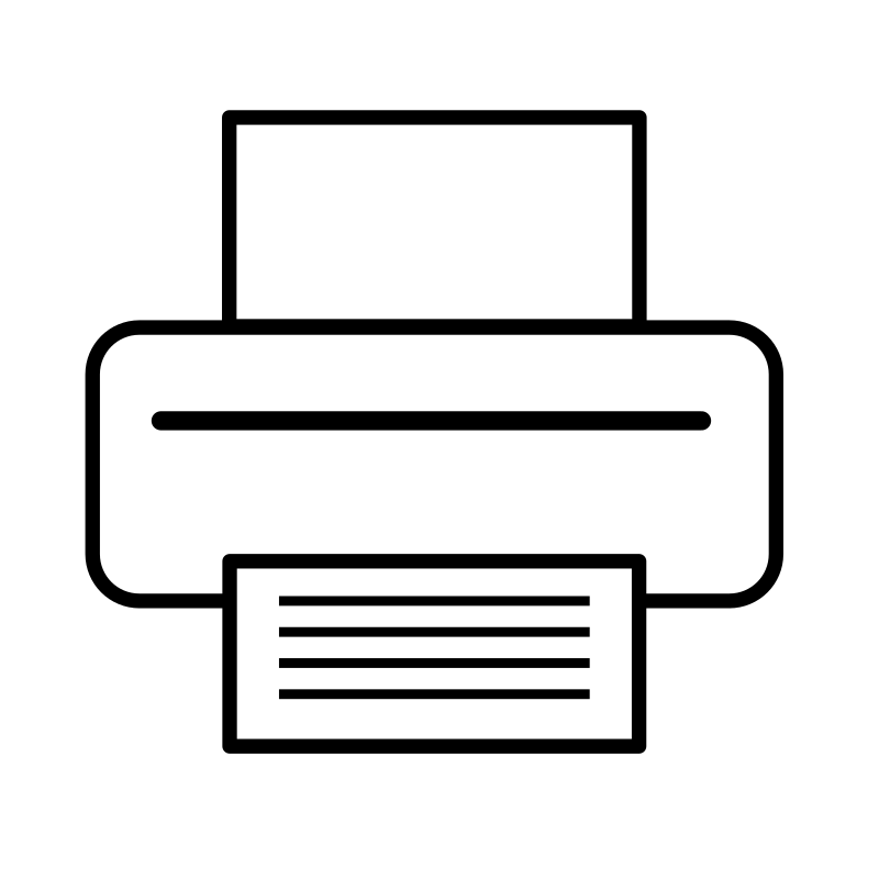Printer icon by Anonymous printer