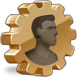 Profile Icon  Golden Control Icons  SoftIconsm
