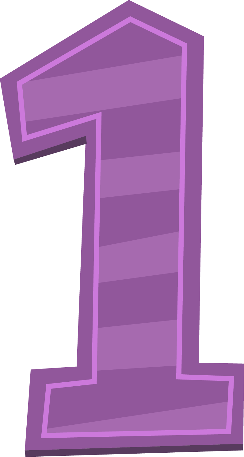 Purple 1 Number Png image #44213