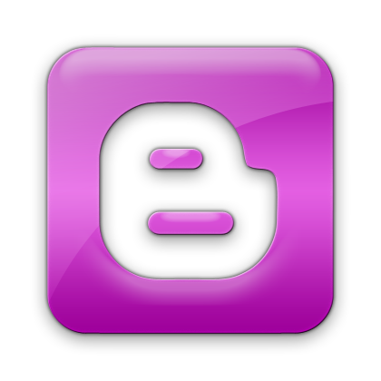 purple blogger logo icon png