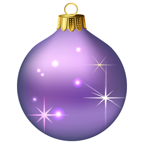 Purple Christmas Baubles Png image #32844