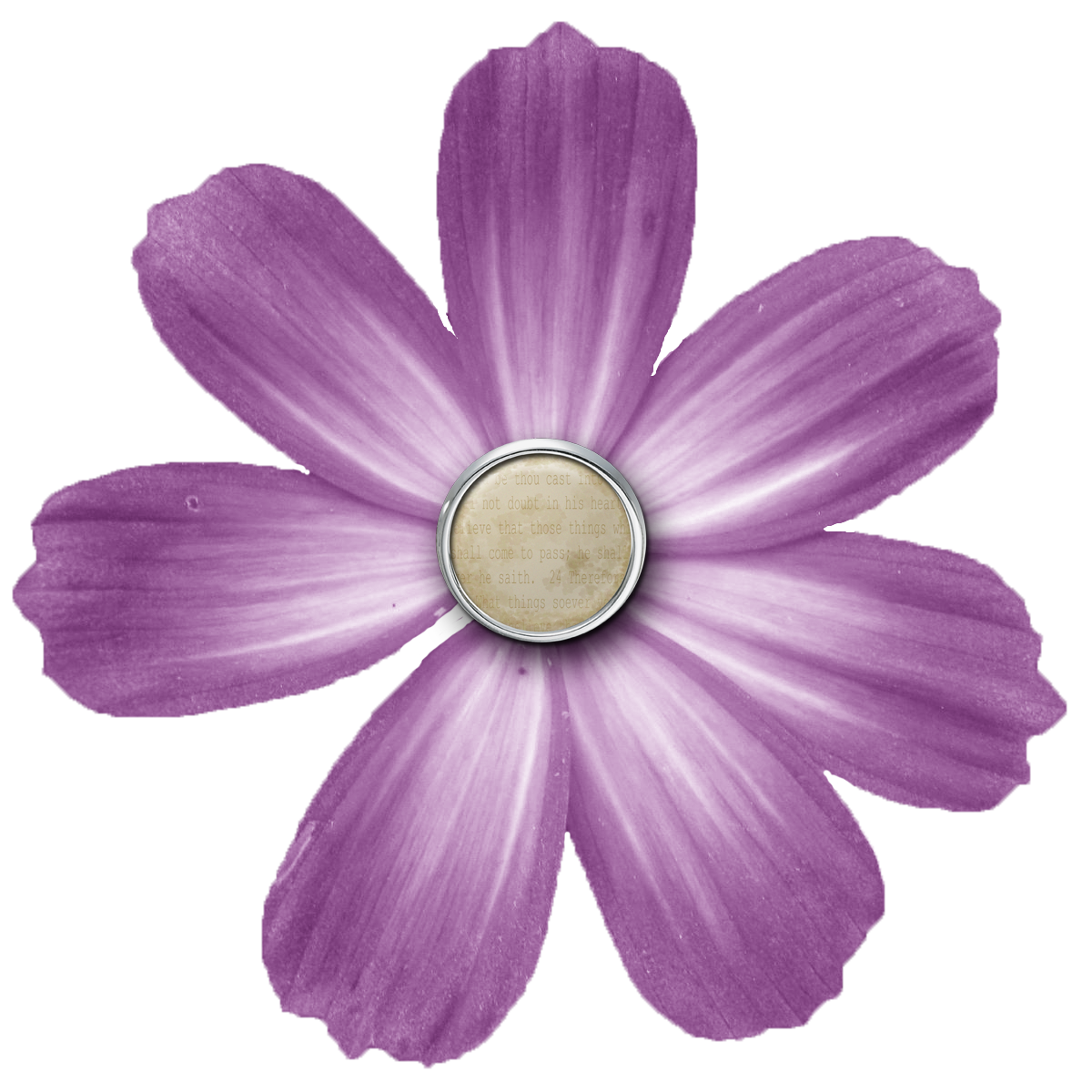 PNG Transparent Purple Flower