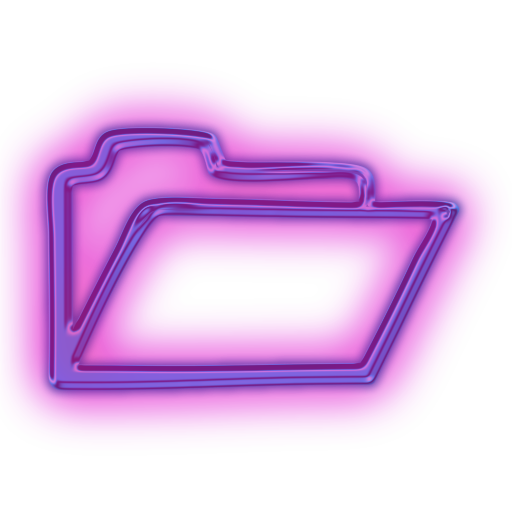 purple folder full icon png