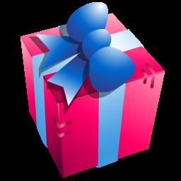 purple gift box icon