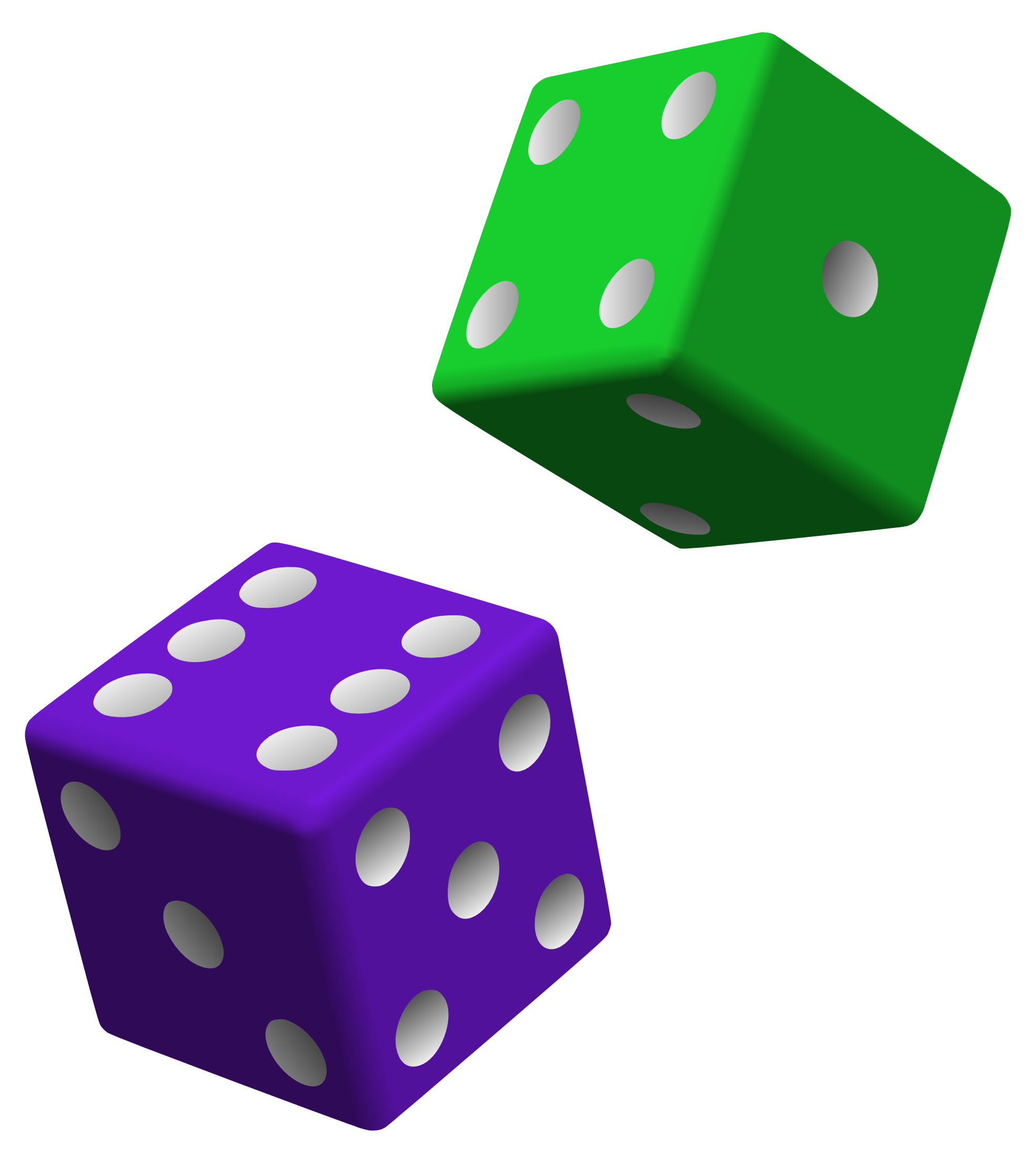 Purple Green Dice Png image #27652