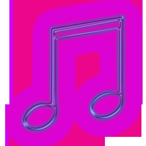 purple music note icon