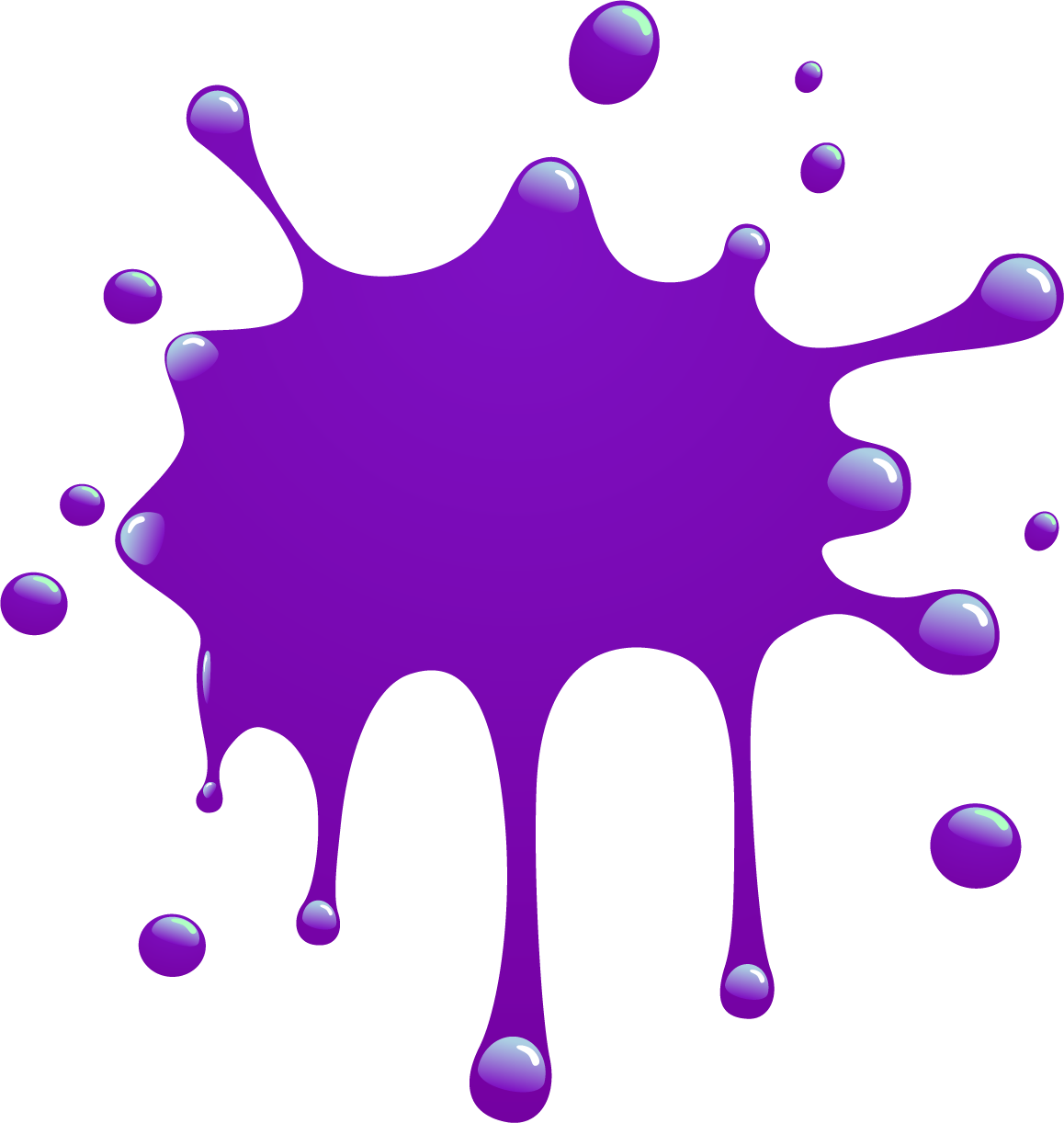 purple splat png
