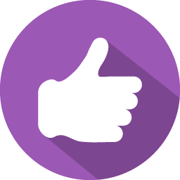 Purple Thumbs Up Icon image #31160