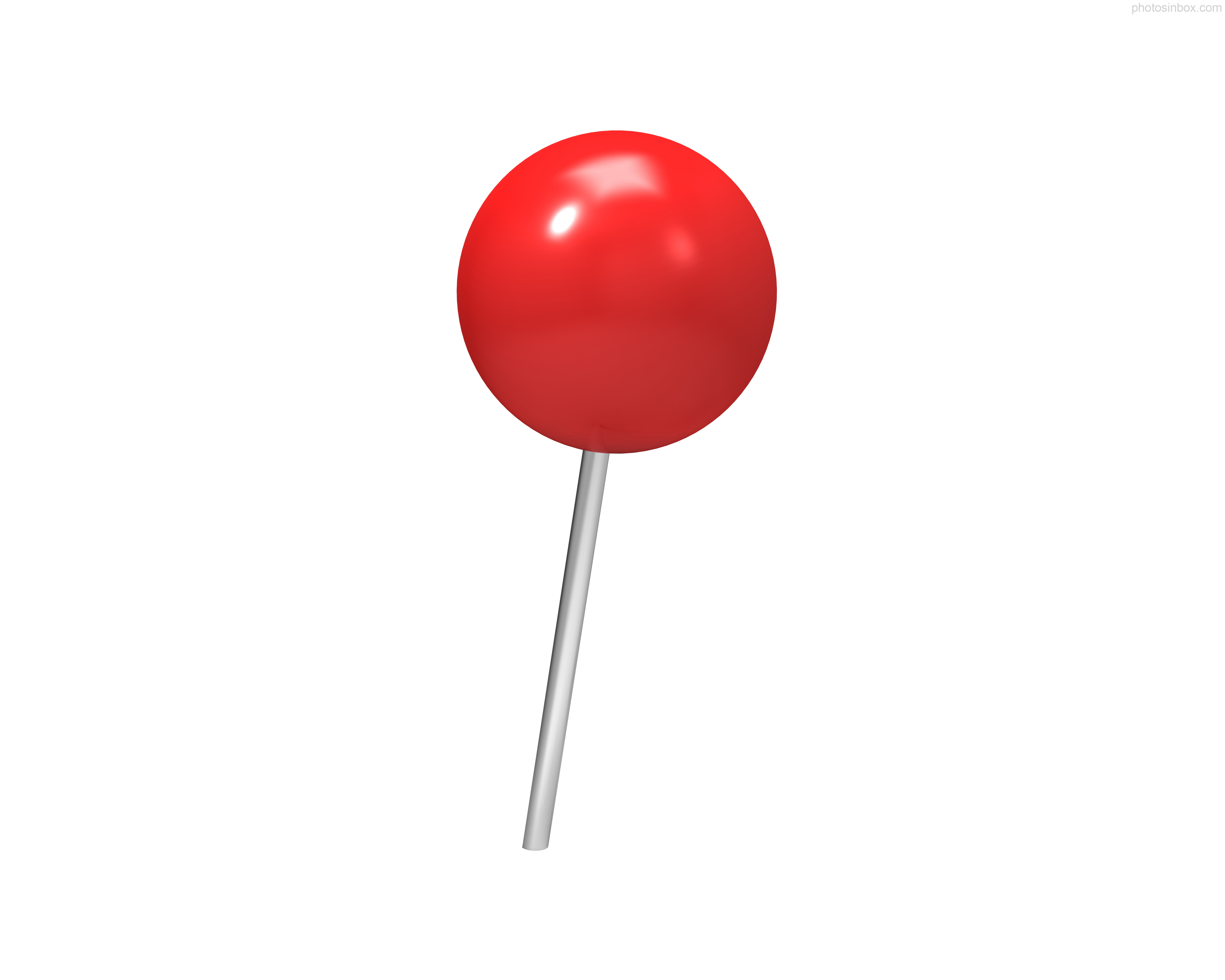 Push Pin Icon Red image #17891