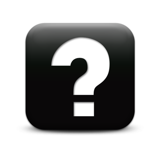 Question Mark Black Icon  512x512, Question Mark HD PNG Download
