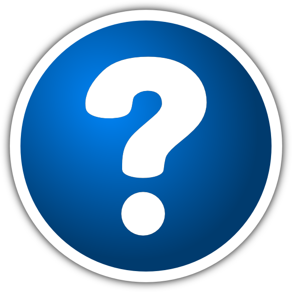 Question Mark Blue Button Icon Png image #41629