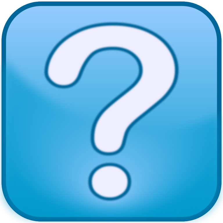 Question Mark Icon Blue Box image #41647