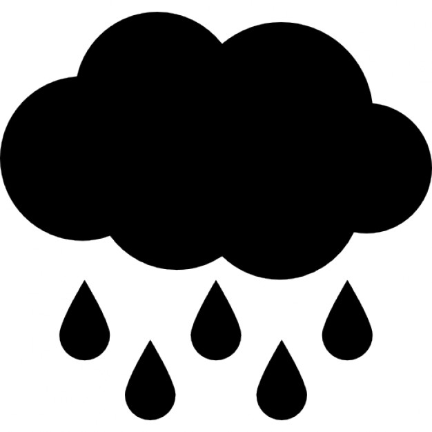 Cloud Rain Free Icon