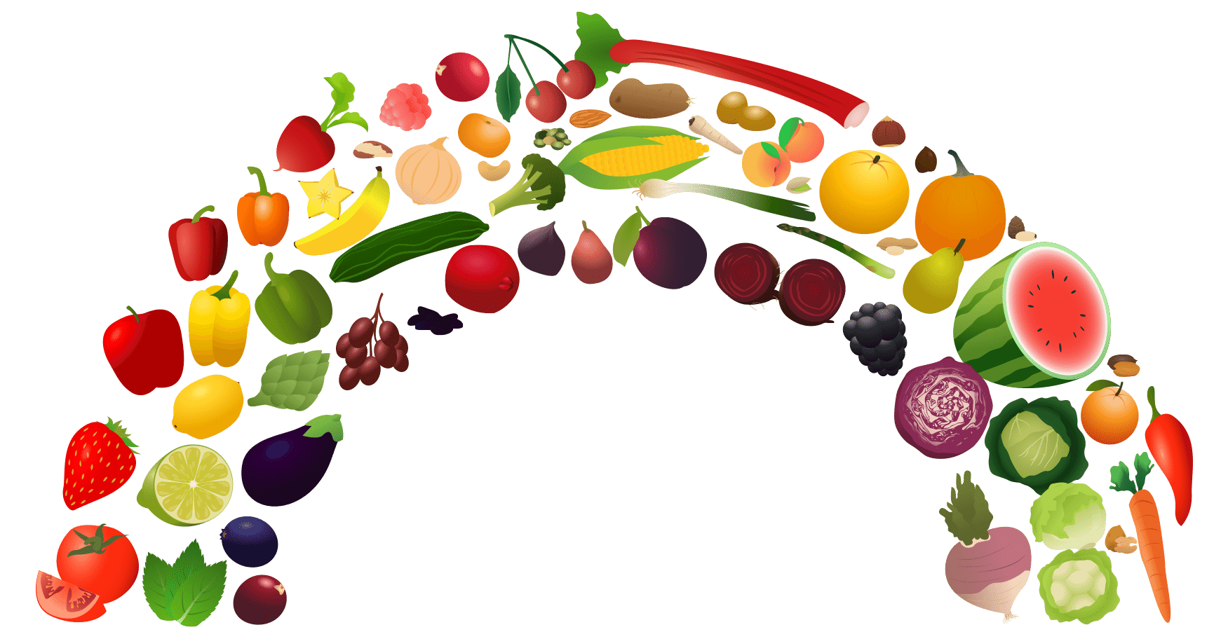 Rainbow Food Vegetable Png 2965 Free Icons And Png