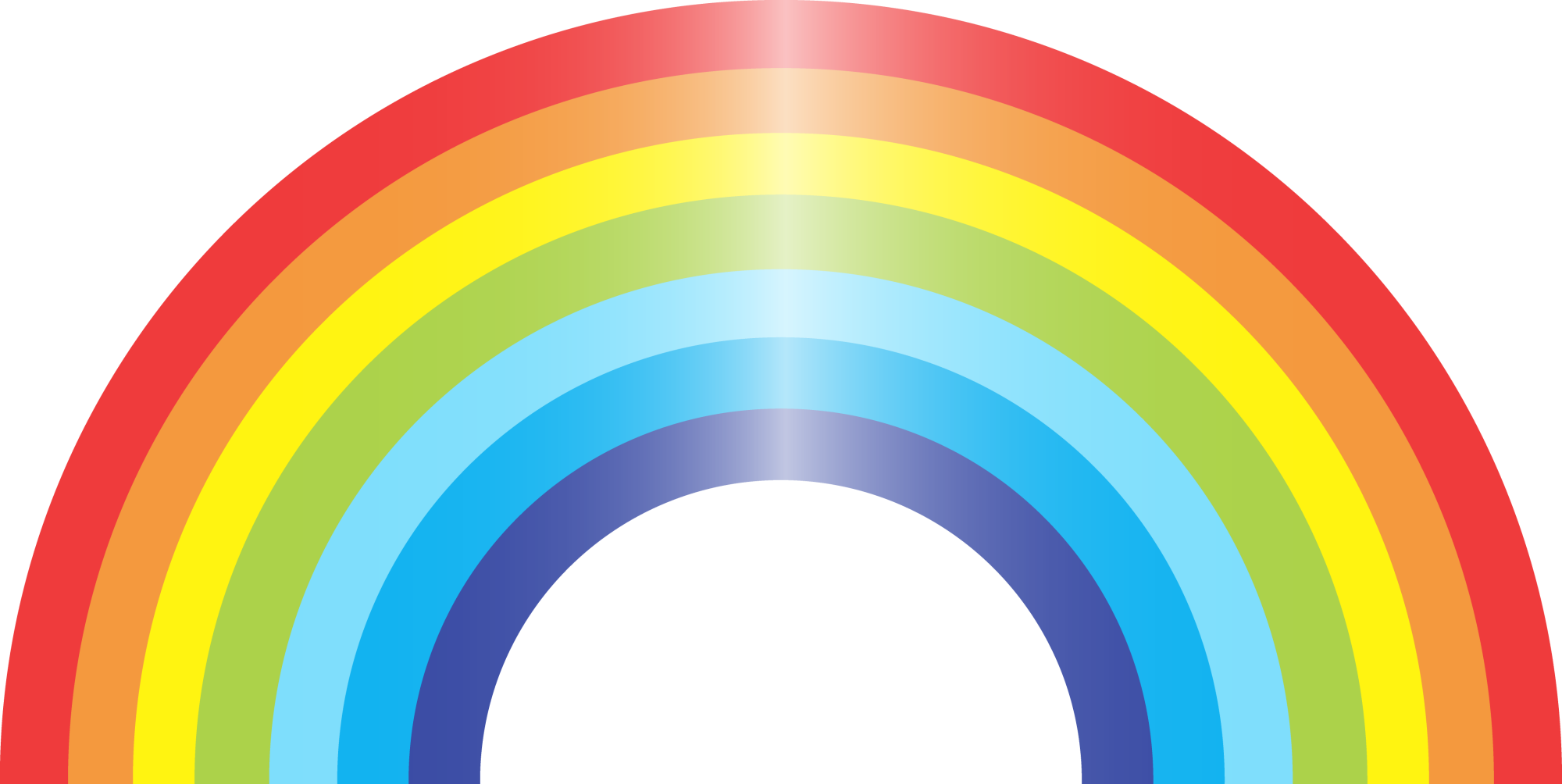Rainbows Lights Effect Png 2000x1004, Rainbow HD PNG Download
