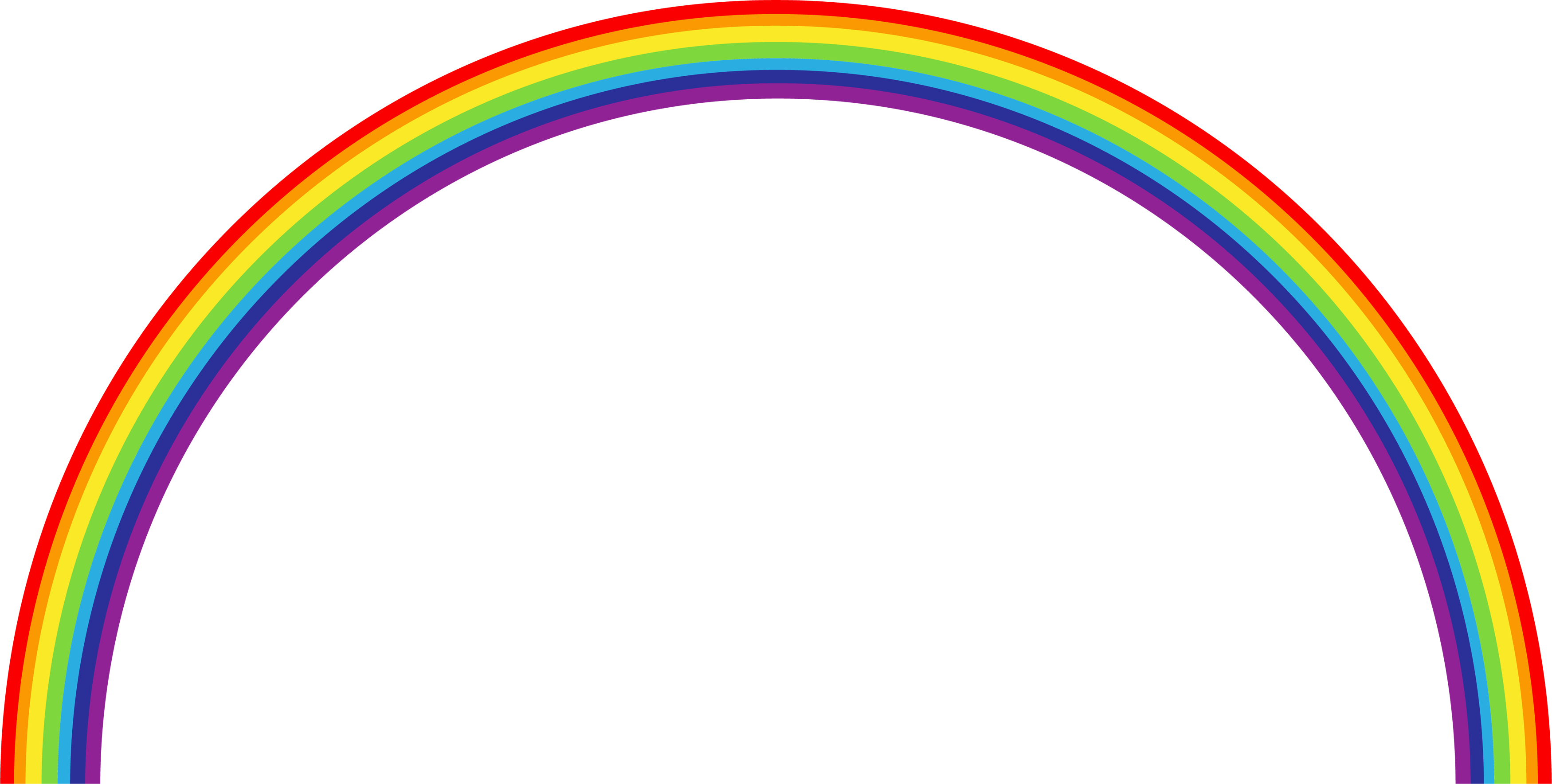 Simple Rainbow Png image #7005