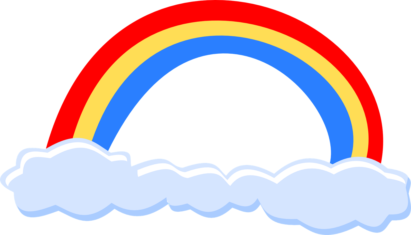 Simple Clipart Rainbow Png image #7007