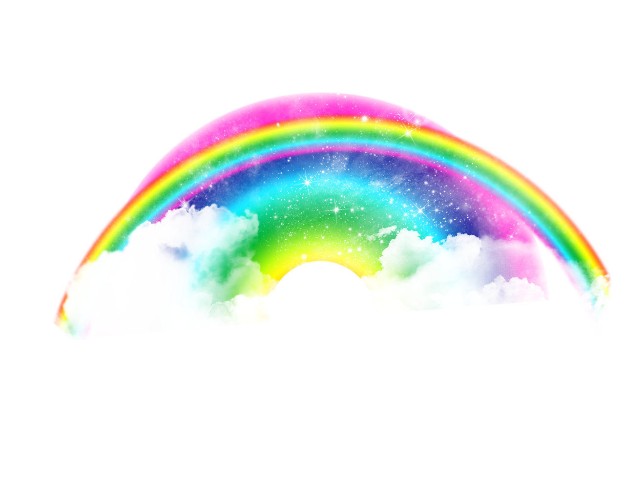 Real Rainbow, Clouds, Lights,effect, Rainbow Png image #7010