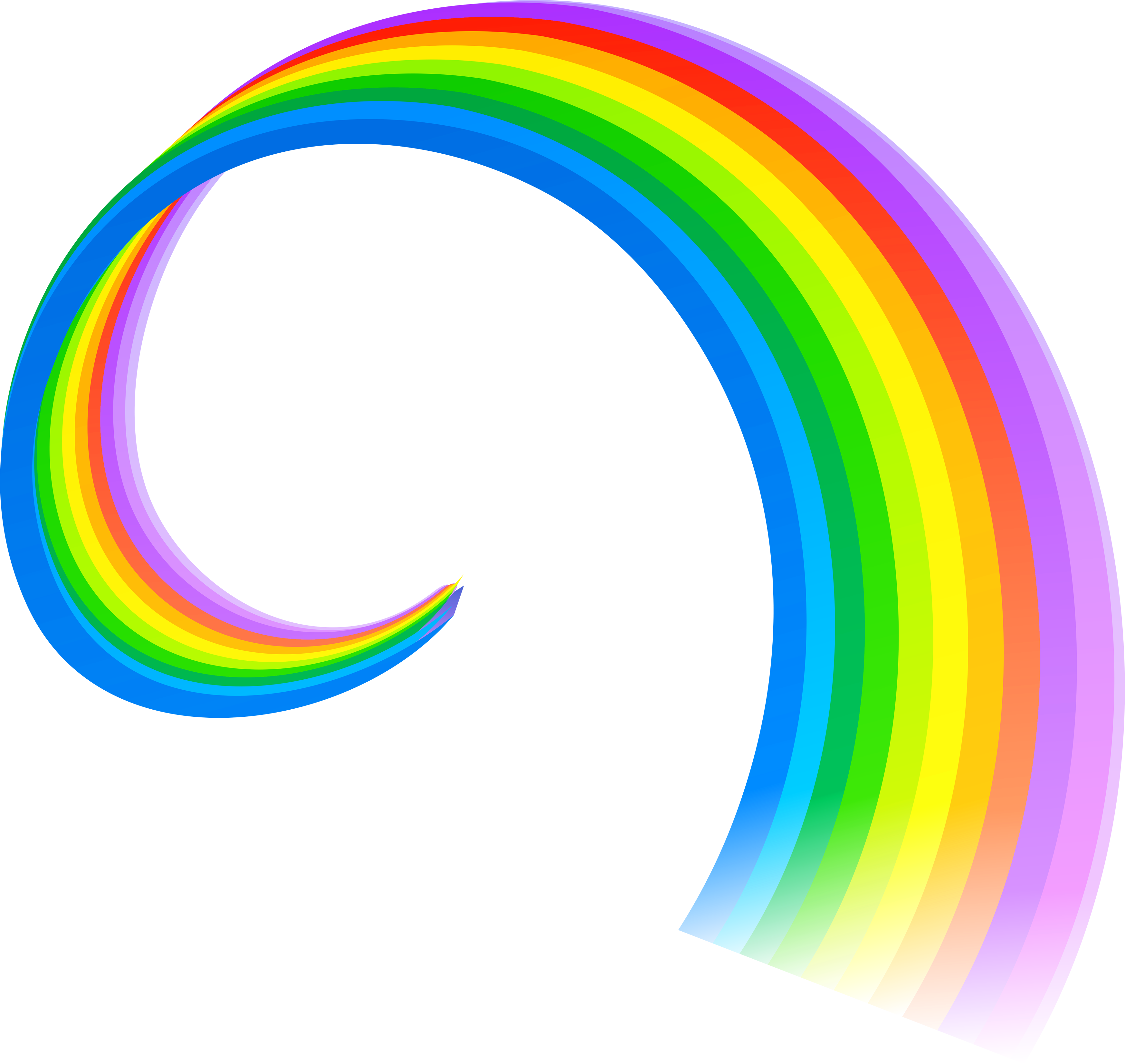 Cute Rainbow Png image #7013