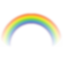 Blurred Rainbow Png image #7021