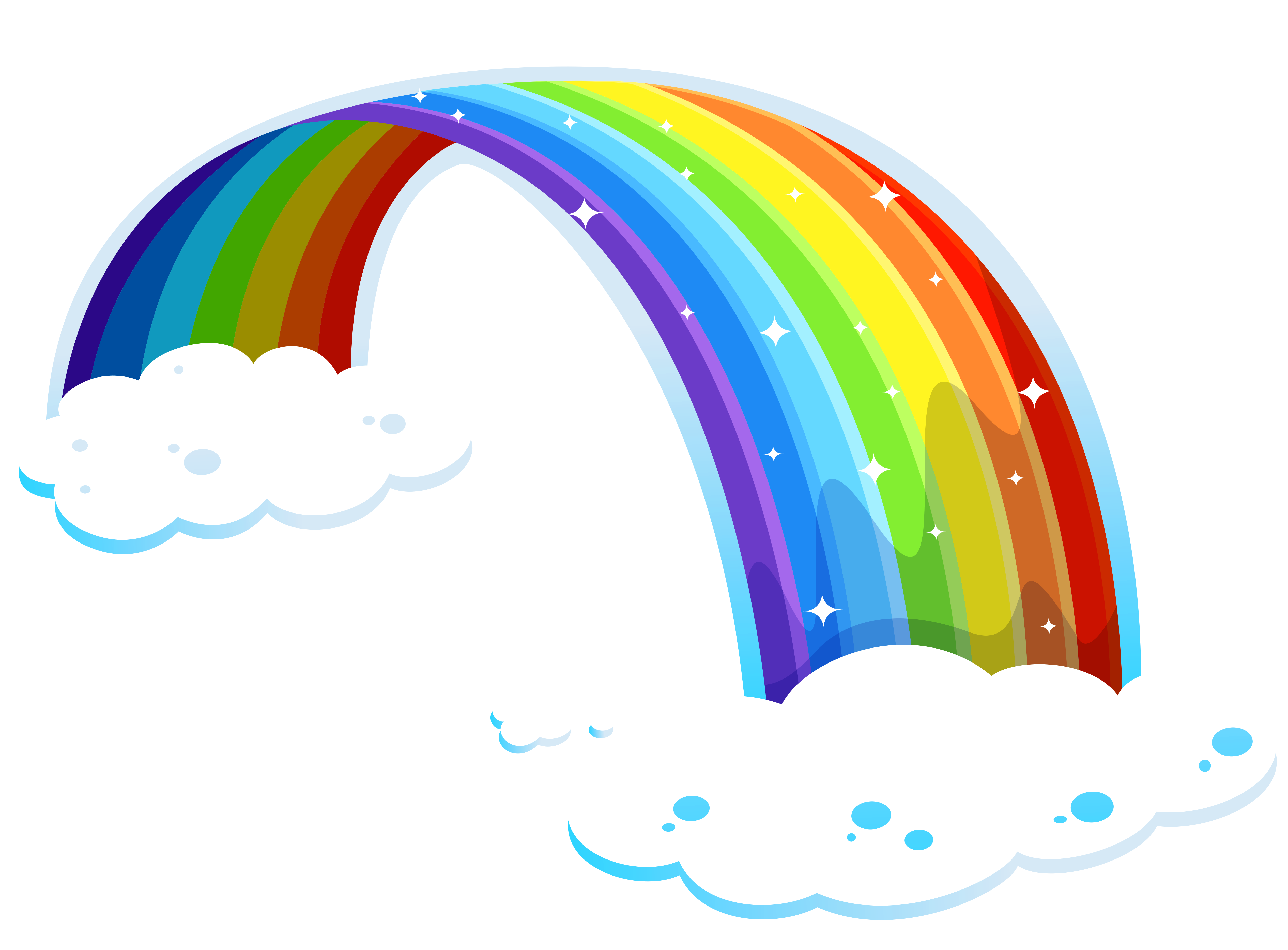 Rainbow Decoration Clouds Png image #6997