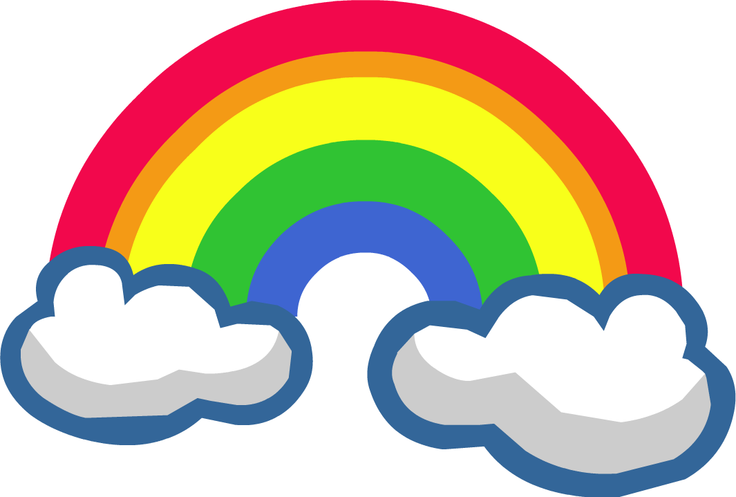 Rainbow With Cloud Png image #6992