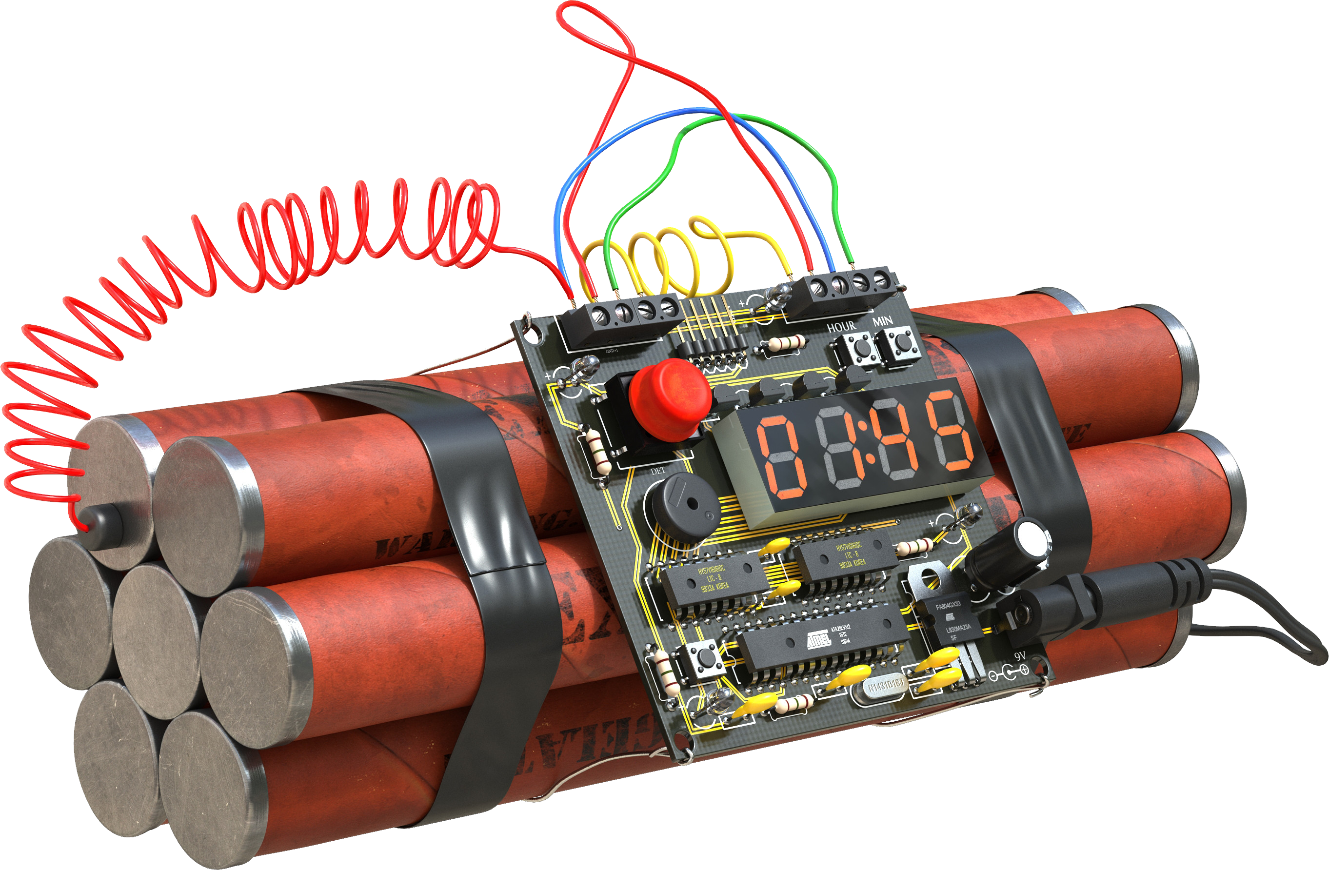 Real Bomb Time Transparent PNG image #46600