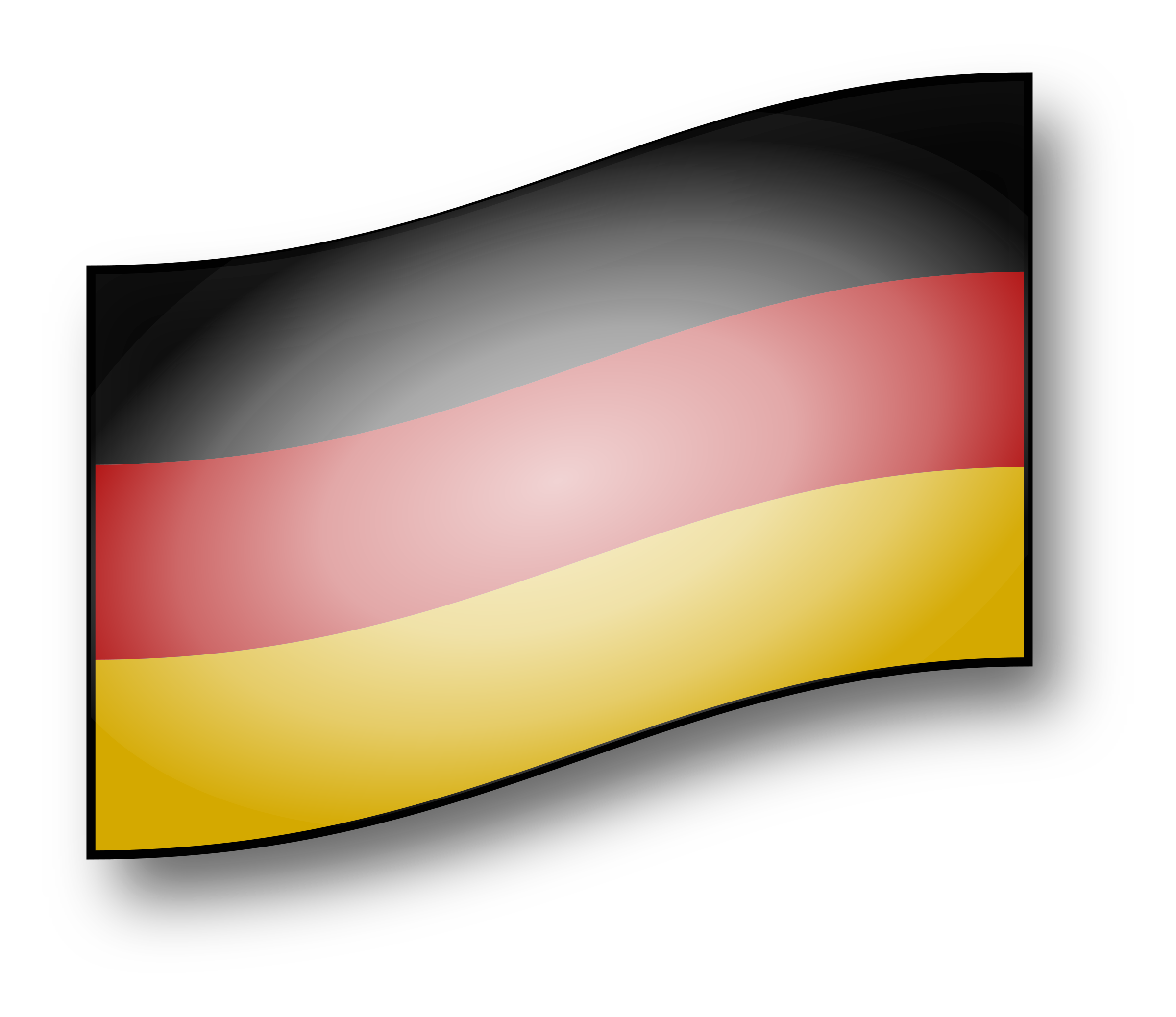 RectangleFlag of Germany Vector graphics Transparent