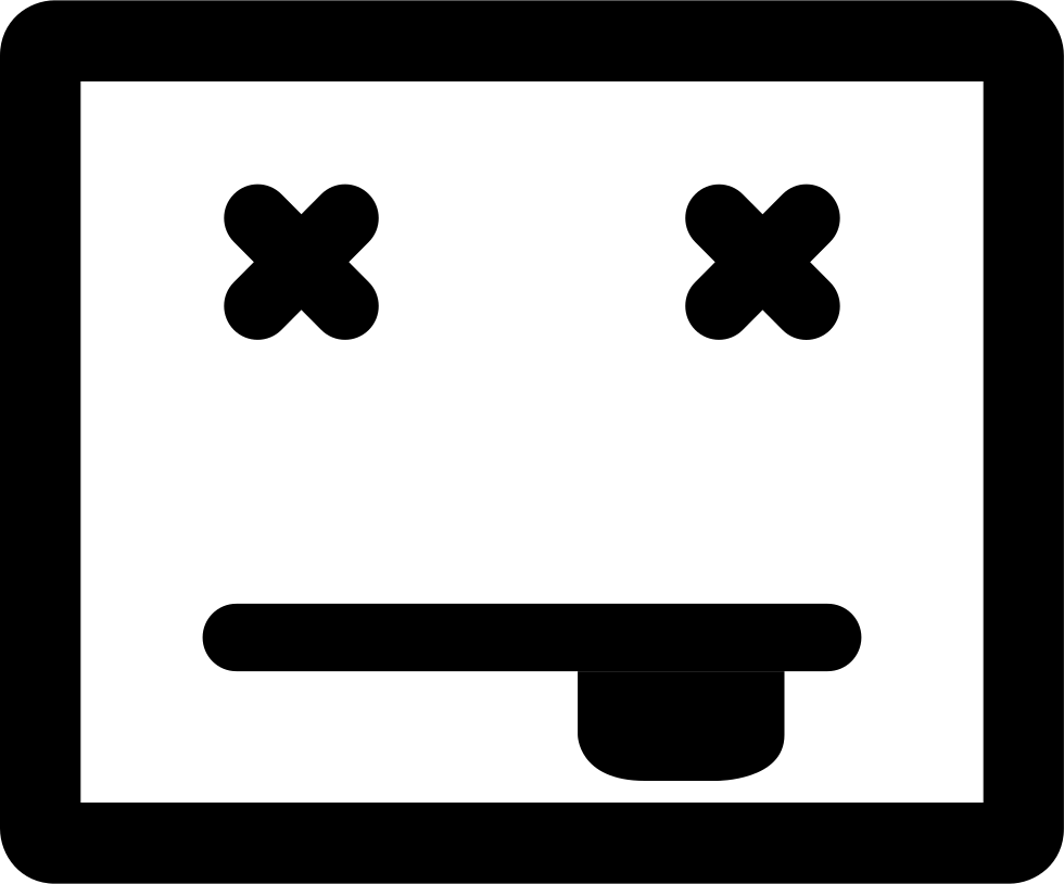 Rectangular Black Face Crossed, And The Error Image image #48252