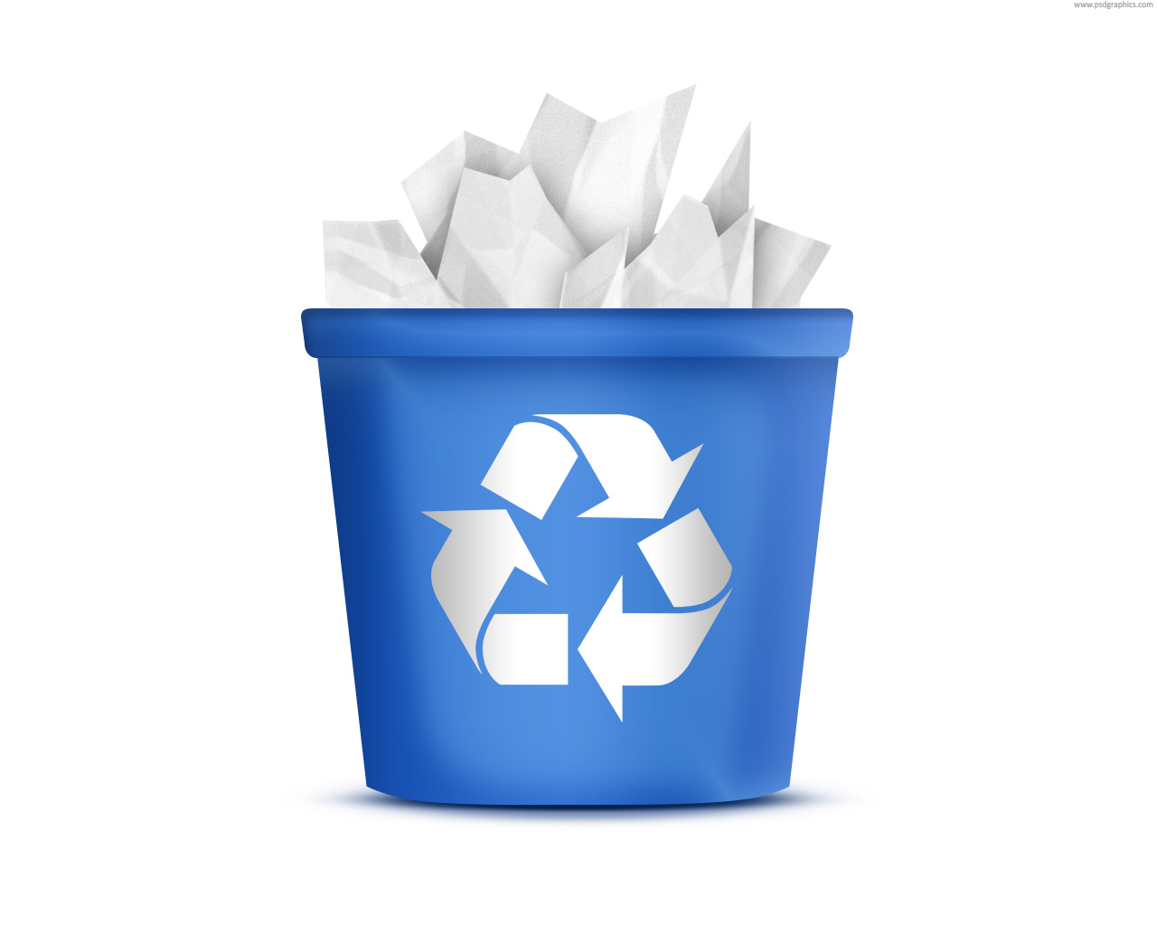Icon Transparent Recycle Bin image #16258