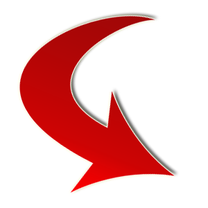 Red Arrow Curved Png image #12462
