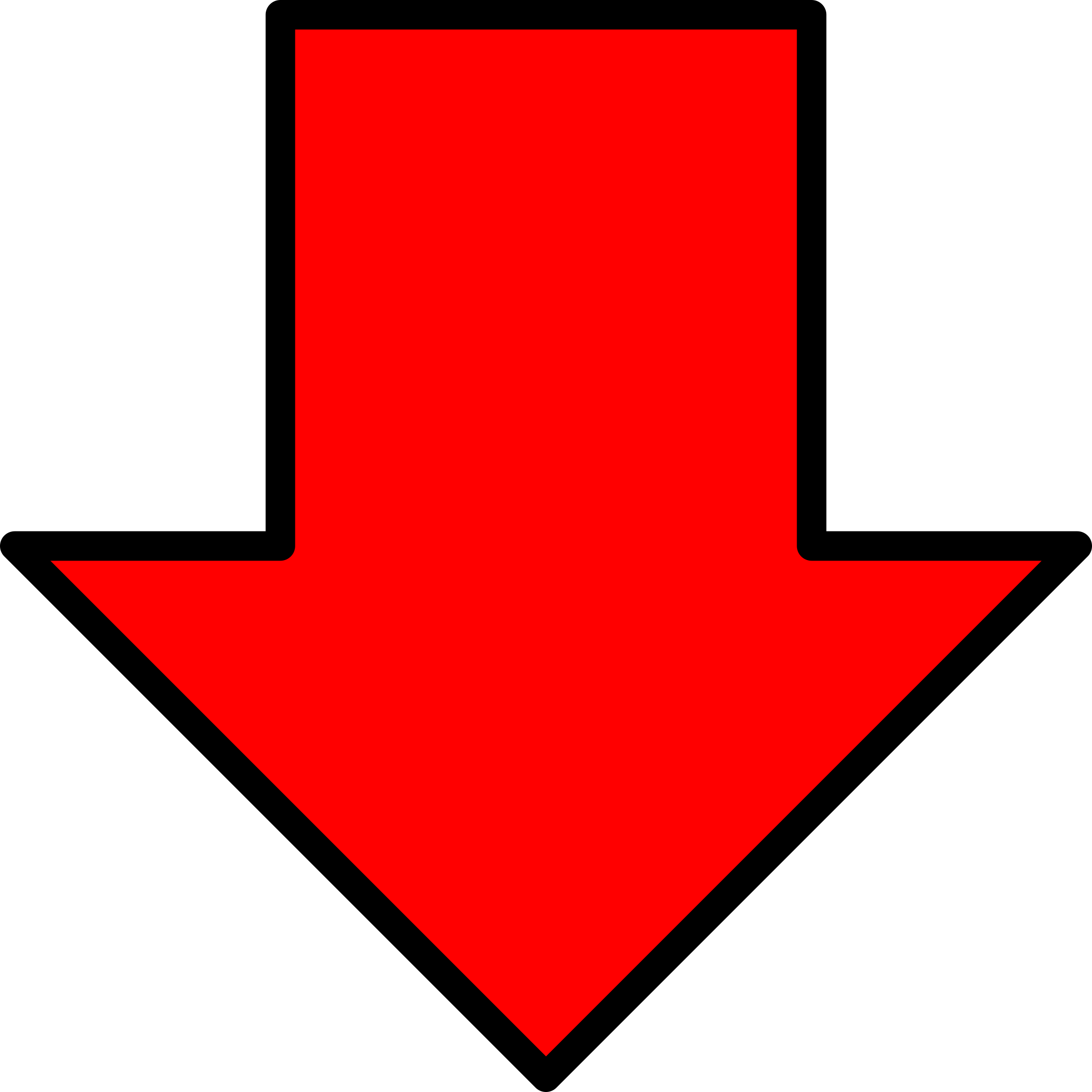 red arrow down icon png