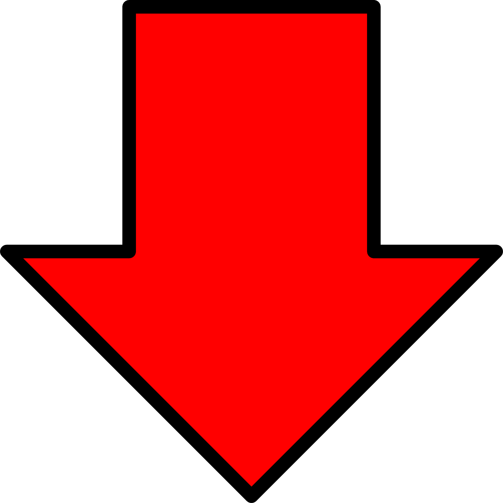 Red Arrow Down Png image #4740