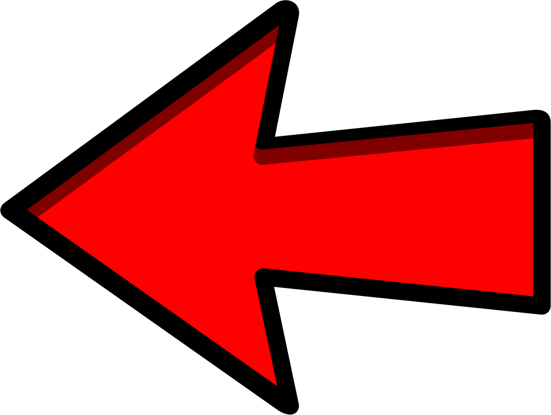 Red Arrow Left Pointing image #2557