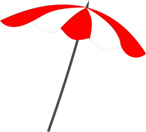 Red Beach Umbrella Png image #41223