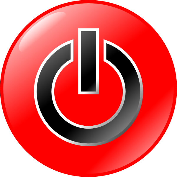 Red Black Power Button Symbol Icon image #8368