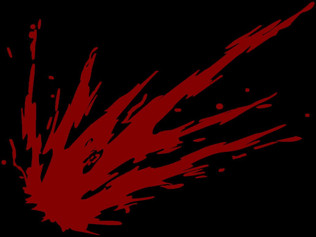 Red Blood Splat Png image #38285
