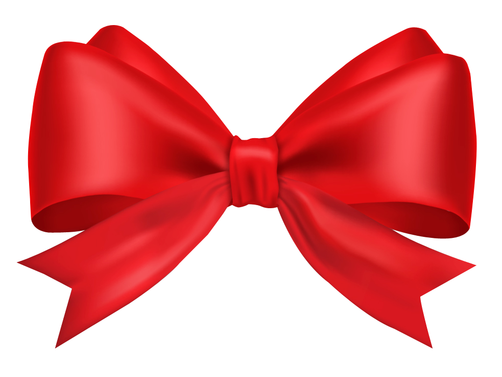 Red Bow Ribbon png no background