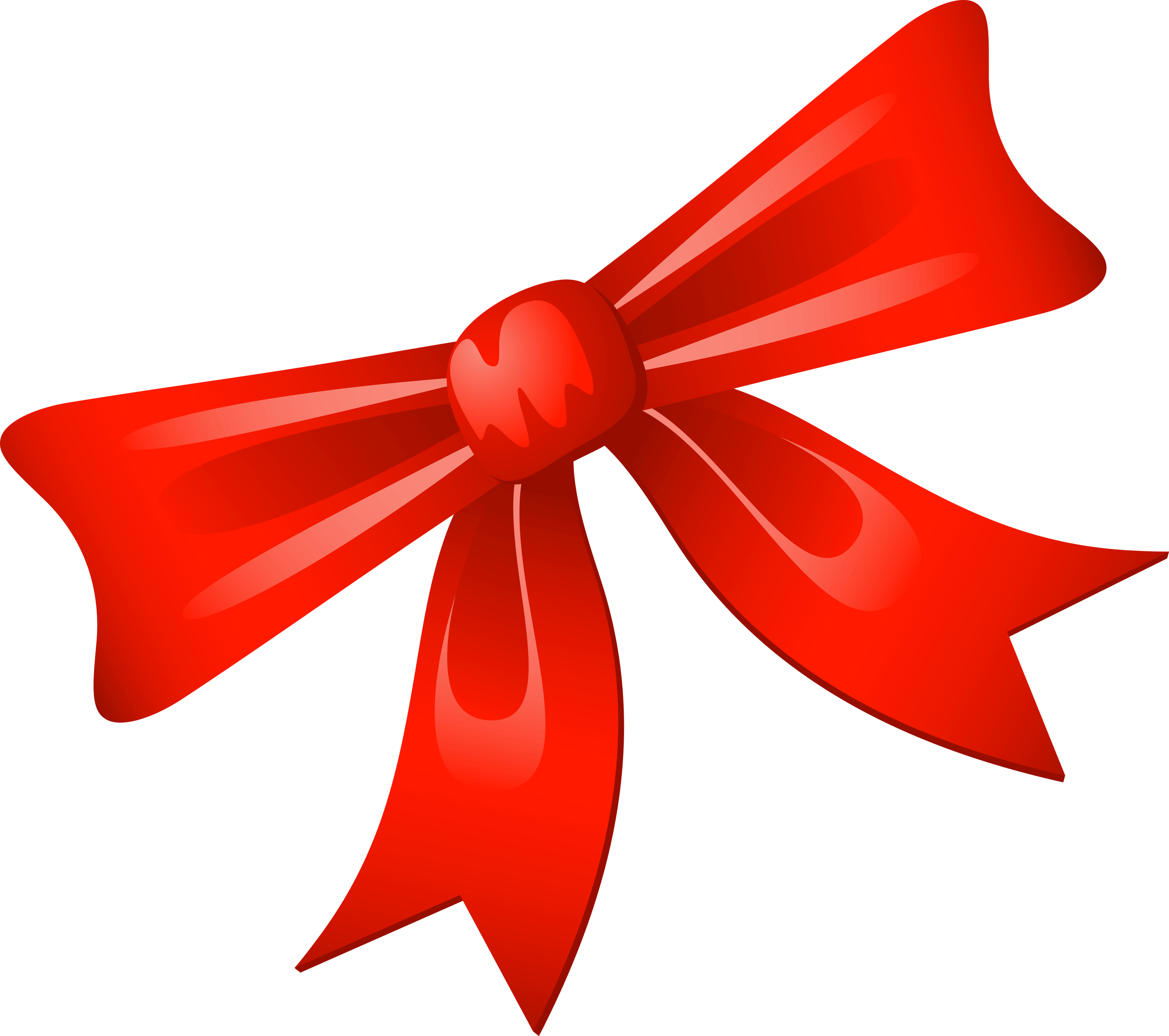 Red Bow Style Png