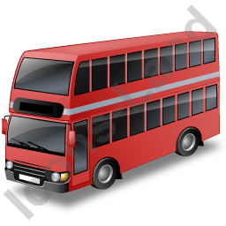 Red Bus Png image #40046