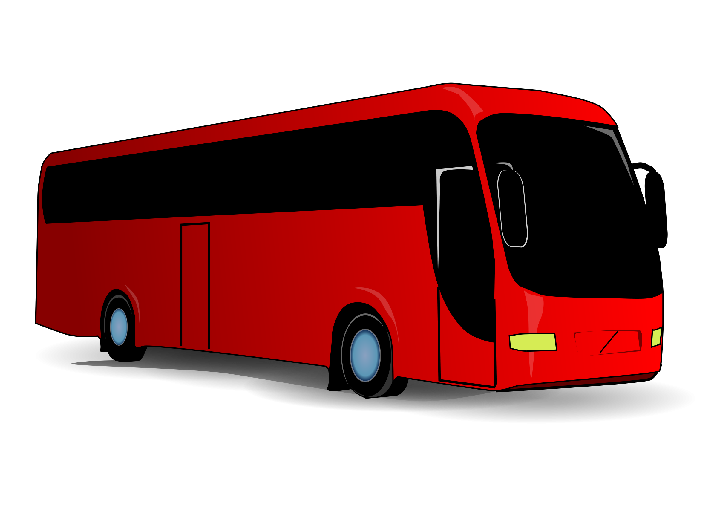 red bus png clipart