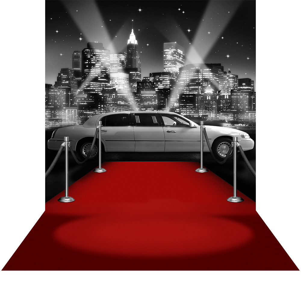 Red Carpet With Limousine Car PNG image #37045