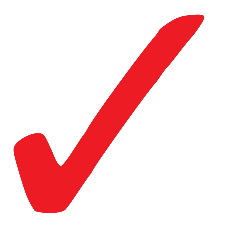 Red Checkmark Png image #25979